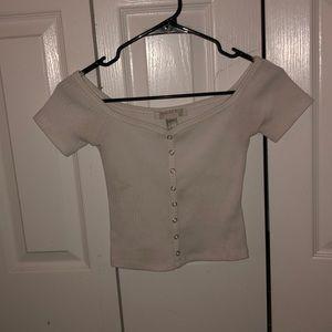 Forever 21 off the shoulder white shirt